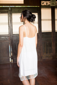 White Sunfower Dress