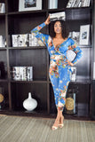 Feeling Blue Floral Jumpsuit