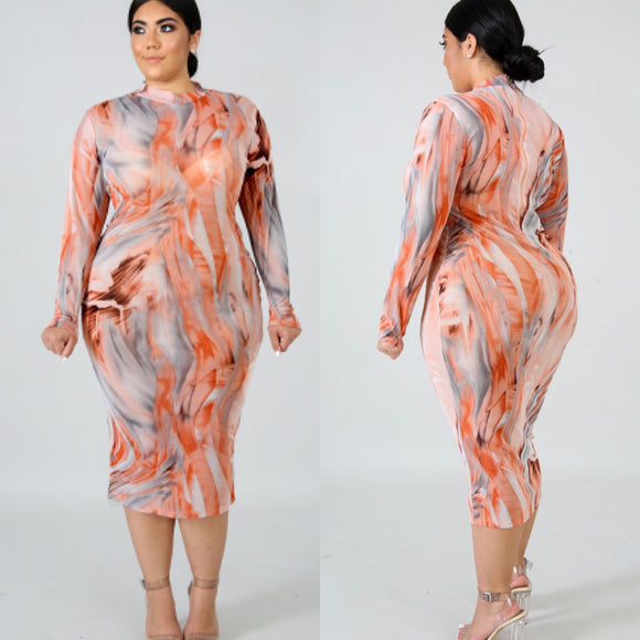 Kylie Midi Dress (Plus)