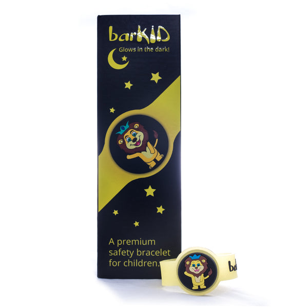 Barkid smart bracelet –  Yellow -  Glows in the dark
