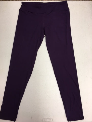 CP Trends Solid Eggplant Leggings