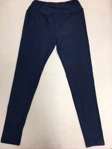 CP Trends Solid Navy Leggings