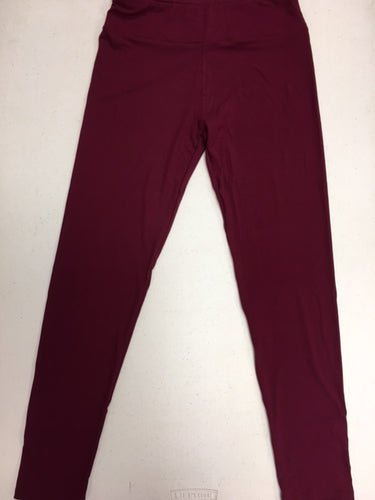 CP Trends Solid Wine Leggings