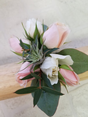 Corsage - Fresh Flowers roses accent- air plants