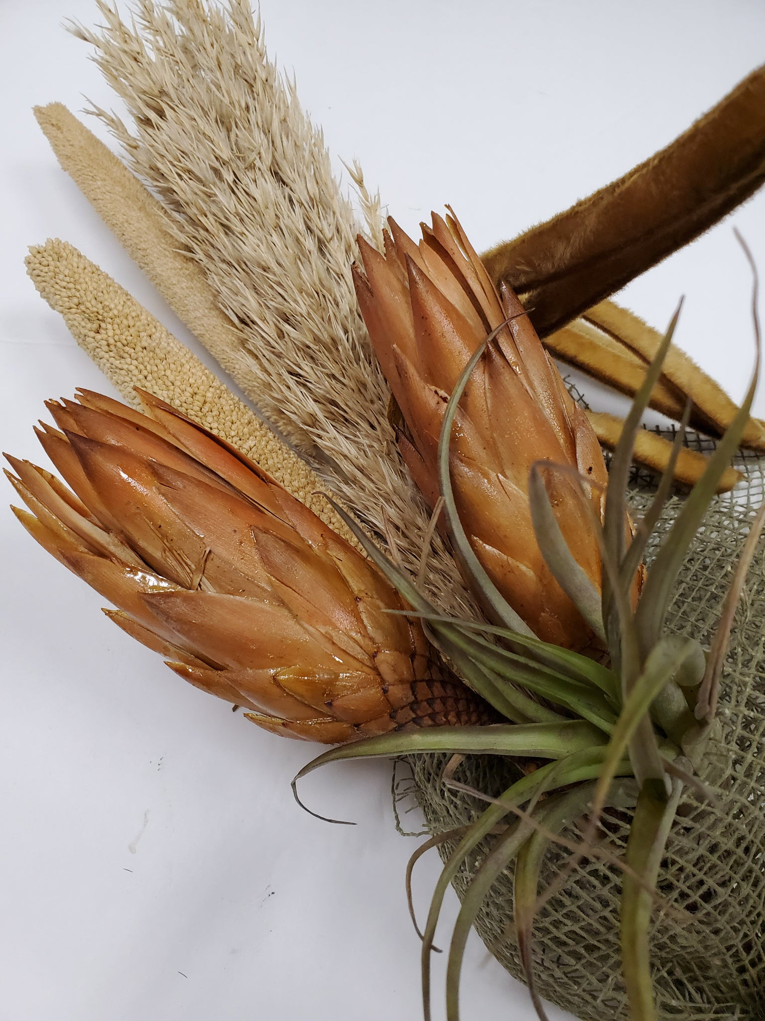 Dried Exotic & tillandsia bouquet