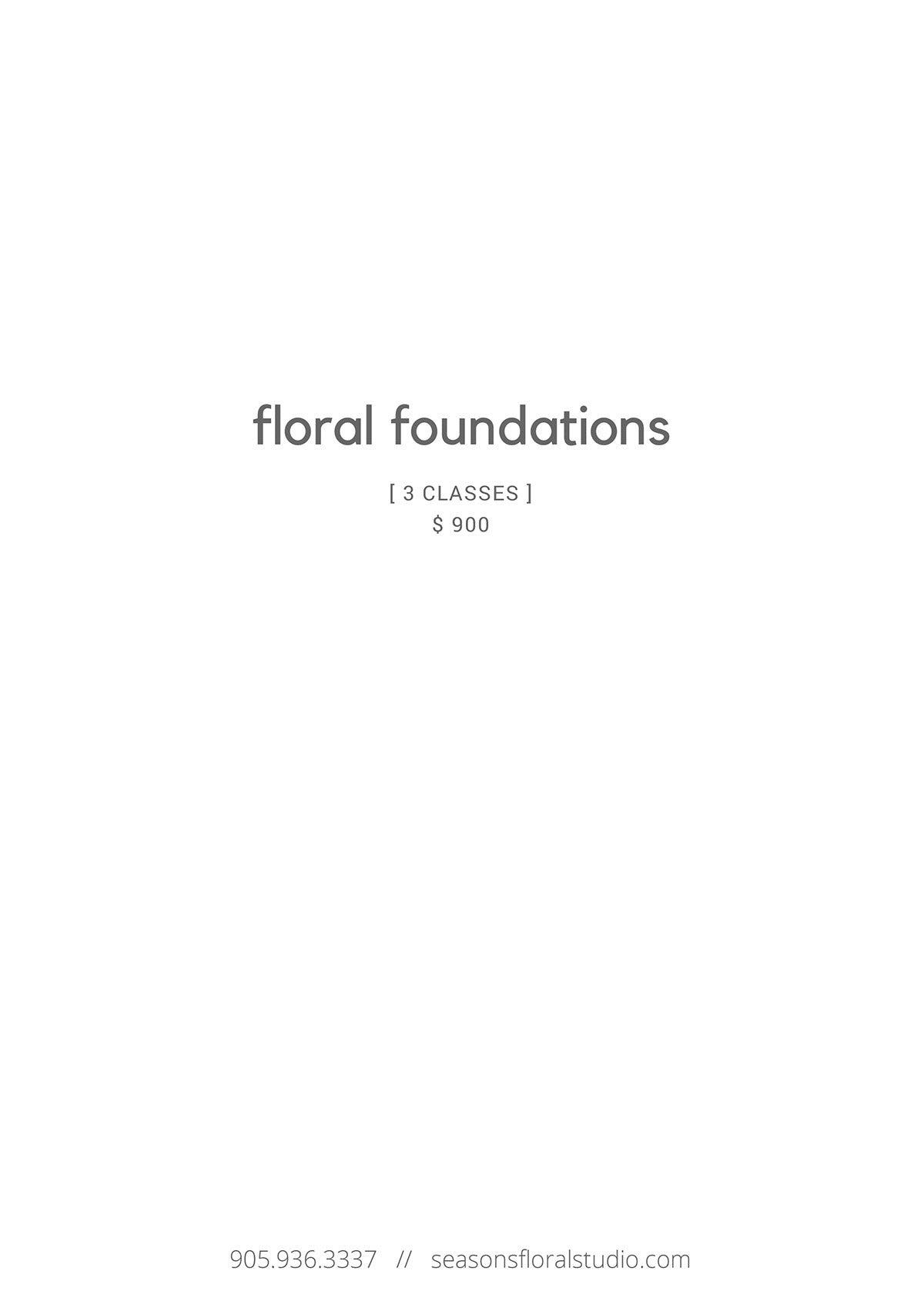 Floral Foundations