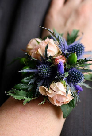 Corsage - Fresh Flowers roses thistle
