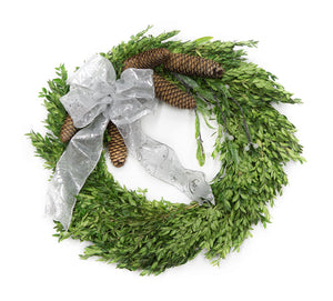Decorated Boxwood Wreath