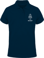 Keep calm and invest - Polo manches courtes