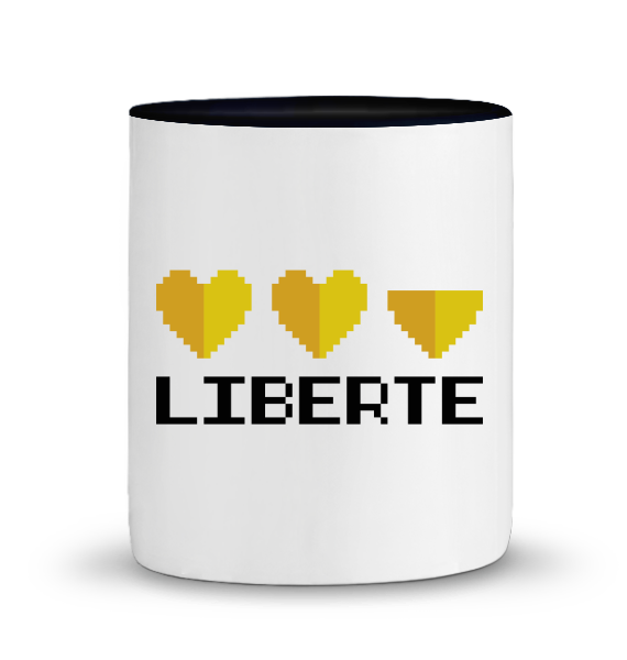 Level Up! - mug en céramique bicolore