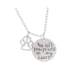 Loss of pet memorial charm you left paw prints on my heart puppy loss of pet memorial charm you left paw prints on my heart puppy paw aloadofball Images