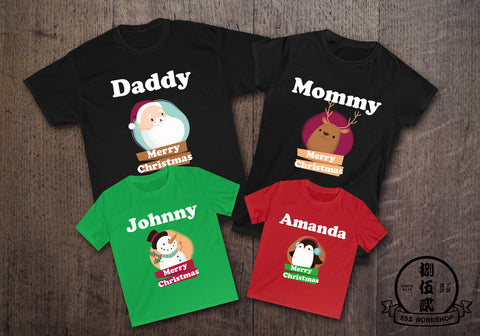 SANTA FAMILY Christmas Customize Family T-Shirt Set