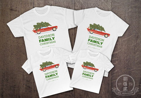 X'MAS TREE TO HOME Christmas Customize Family T-Shirt Set