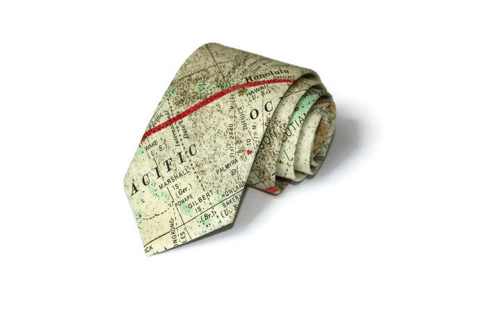 World Map Necktie