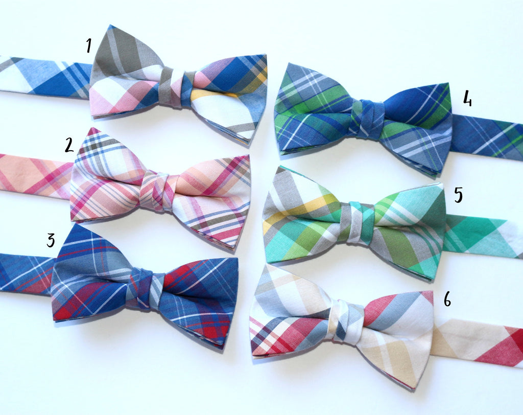 Newport Plaid Bow Ties - Boys