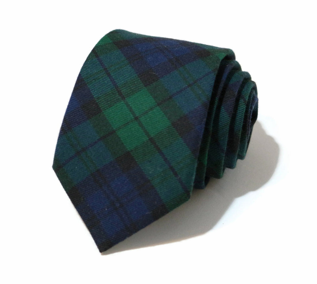 Black Watch Tartan Plaid Necktie