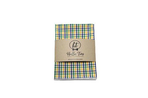 Mardi Gras Tattersall Pocket Square (Mens)