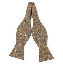Gold Paisley Bow Tie