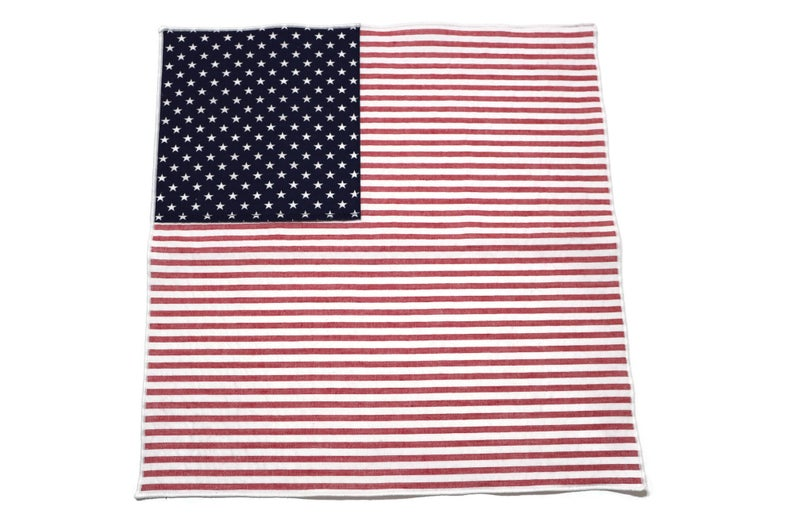 American Flag Seersucker Pocket Square (Mens)