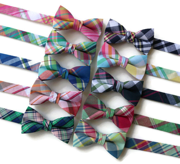 Madras Plaid Bow Ties - Boys