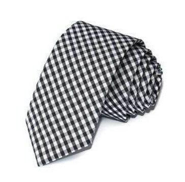 Black Gingham Check Necktie