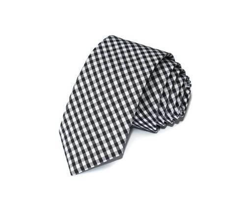 Black Gingham Necktie - Youth