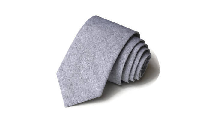 Gray Chambray Necktie