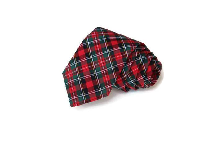Hunter & Red Tartan Plaid Necktie - Youth