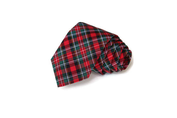 Hunter & Red Tartan Plaid Necktie