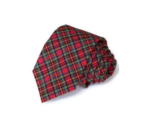 Red & Green Tartan Plaid Necktie - Youth