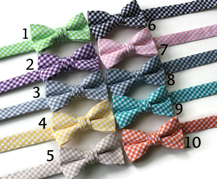 Gingham Bow Tie - Boys