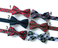 Tartan Plaid Bow Tie - Boys