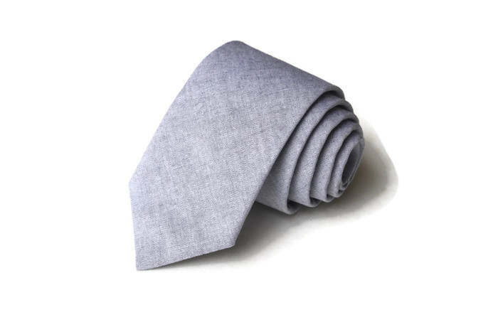 Navy Chambray Necktie