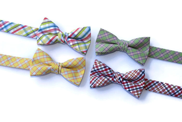 Plaid Bow Ties - Boys