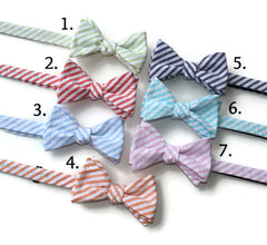 Seersucker Bow Ties