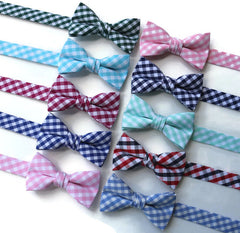 Gingham Check Bow Ties - Boys