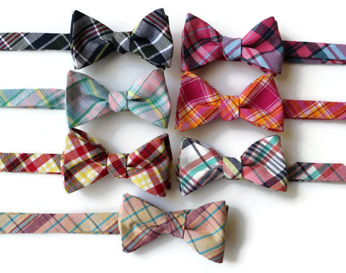 Madras Plaid Bow Tie