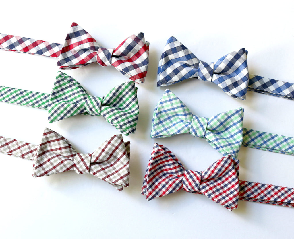 Tattersall & Plaid Bow Ties