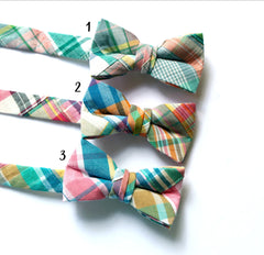 Madras Patchwork Plaid Bow Tie - Boys