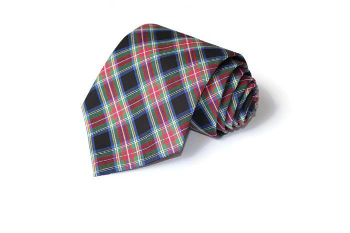 Black & Red Tartan Plaid Necktie