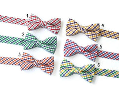 Tattersall Check Bow Tie - Boys