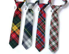 Tartan Plaid Necktie - Boys Pre-Tied
