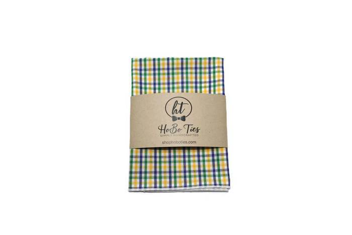 Mardi Gras Tattersall Pocket Square (Boys)