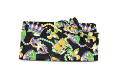 mardi gras cummerbund and bow tie set, masks, beads, crowns, formal cummerbund, mardi gras