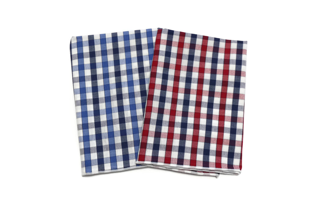 Plaid Check Pocket Square (Boys)