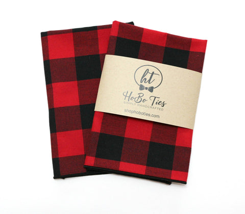 Buffalo Plaid Pocket Square (Mens)