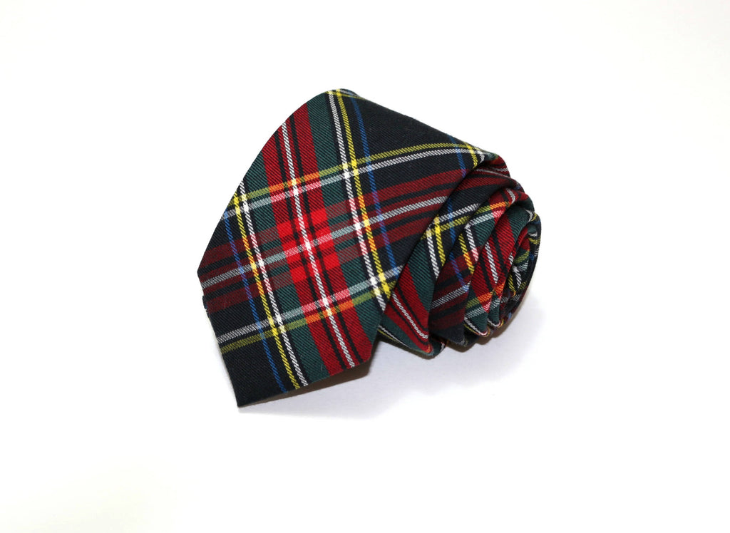 Stewart Tartan Plaid Necktie - Youth