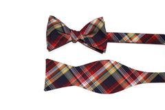 Multi Plaid Bow Tie