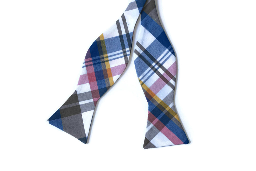 Royal & Gray Newport Plaid Bow Tie - Boys (Self Tie)
