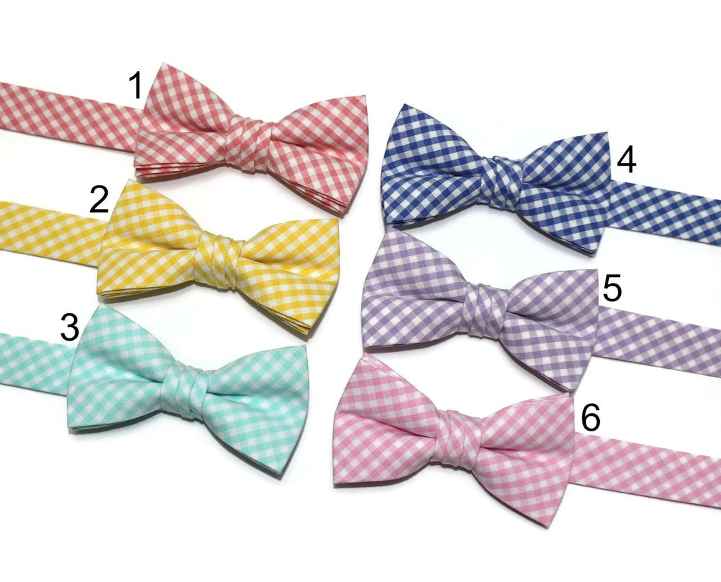 Gingham Check Bow Tie - Boys